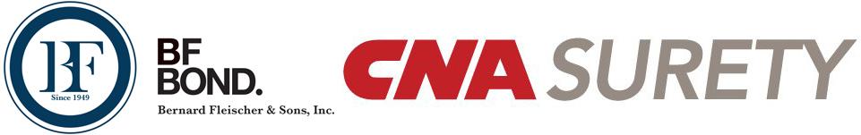 CNA Surety, Western Surety, Merchants Bonding, General Accident, Travelers Surety, RLI Surety, Chubb Surety, Philadelphia Surety, Zurich Surety, Ironsure Surety, Suretec Surety